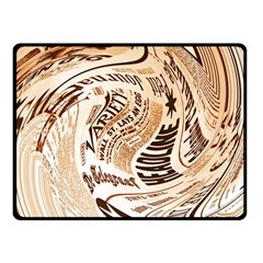 Abstract Newspaper Background Double Sided Fleece Blanket (small)
