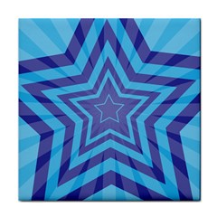 Abstract Starburst Blue Star Tile Coasters by Amaryn4rt