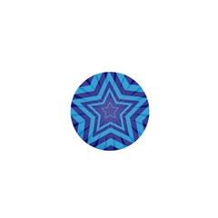 Abstract Starburst Blue Star 1  Mini Buttons