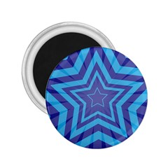 Abstract Starburst Blue Star 2 25  Magnets by Amaryn4rt