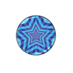 Abstract Starburst Blue Star Hat Clip Ball Marker by Amaryn4rt