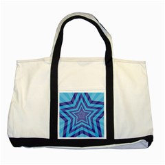 Abstract Starburst Blue Star Two Tone Tote Bag by Amaryn4rt