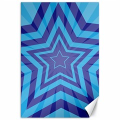 Abstract Starburst Blue Star Canvas 20  X 30   by Amaryn4rt