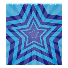 Abstract Starburst Blue Star Shower Curtain 66  X 72  (large)  by Amaryn4rt