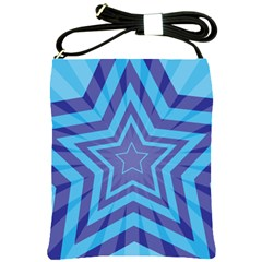 Abstract Starburst Blue Star Shoulder Sling Bags by Amaryn4rt