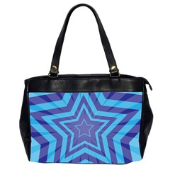 Abstract Starburst Blue Star Office Handbags (2 Sides)  by Amaryn4rt