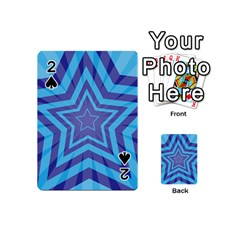 Abstract Starburst Blue Star Playing Cards 54 (mini)  by Amaryn4rt
