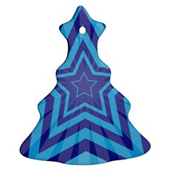 Abstract Starburst Blue Star Ornament (christmas Tree)  by Amaryn4rt