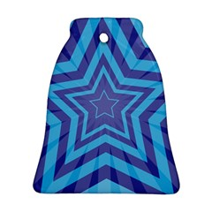 Abstract Starburst Blue Star Bell Ornament (two Sides) by Amaryn4rt