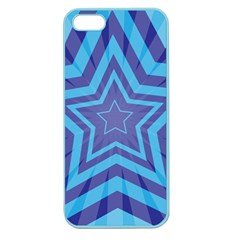 Abstract Starburst Blue Star Apple Seamless Iphone 5 Case (color) by Amaryn4rt