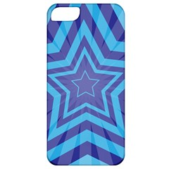 Abstract Starburst Blue Star Apple Iphone 5 Classic Hardshell Case by Amaryn4rt