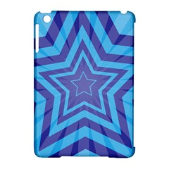 Abstract Starburst Blue Star Apple Ipad Mini Hardshell Case (compatible With Smart Cover) by Amaryn4rt