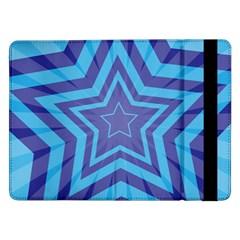 Abstract Starburst Blue Star Samsung Galaxy Tab Pro 12 2  Flip Case by Amaryn4rt