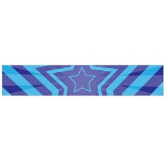Abstract Starburst Blue Star Flano Scarf (large) by Amaryn4rt