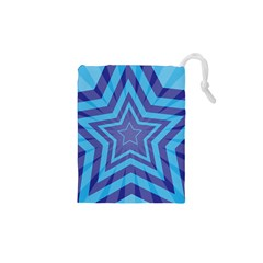 Abstract Starburst Blue Star Drawstring Pouches (xs)  by Amaryn4rt