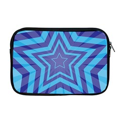 Abstract Starburst Blue Star Apple Macbook Pro 17  Zipper Case by Amaryn4rt