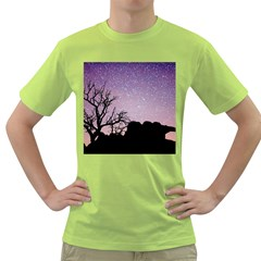 Arches National Park Night Green T Shirt