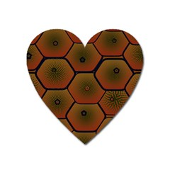 Art Psychedelic Pattern Heart Magnet by Amaryn4rt