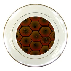 Art Psychedelic Pattern Porcelain Plates by Amaryn4rt