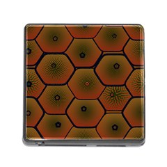 Art Psychedelic Pattern Memory Card Reader (square) by Amaryn4rt