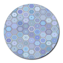 Bee Hive Background Round Mousepads by Amaryn4rt