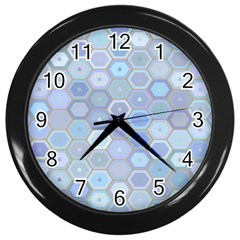 Bee Hive Background Wall Clocks (black) by Amaryn4rt