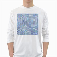 Bee Hive Background White Long Sleeve T Shirts by Amaryn4rt