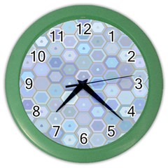 Bee Hive Background Color Wall Clocks by Amaryn4rt