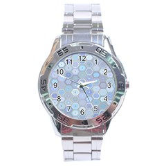 Bee Hive Background Stainless Steel Analogue Watch by Amaryn4rt