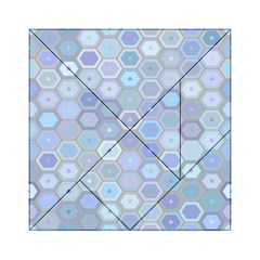 Bee Hive Background Acrylic Tangram Puzzle (6  X 6 ) by Amaryn4rt