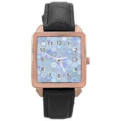 Bee Hive Background Rose Gold Leather Watch  by Amaryn4rt