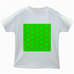 Bee Hive Texture Kids White T Shirts by Amaryn4rt