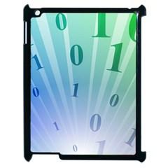Blue Binary Background Binary World Binary Flow Hand Apple Ipad 2 Case (black) by Amaryn4rt