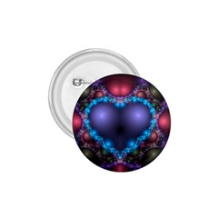 Blue Heart 1 75  Buttons by Amaryn4rt