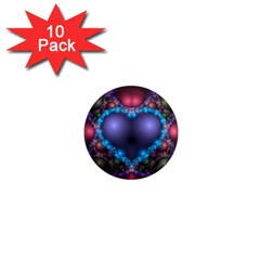 Blue Heart 1  Mini Magnet (10 Pack)  by Amaryn4rt