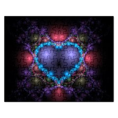 Blue Heart Rectangular Jigsaw Puzzl
