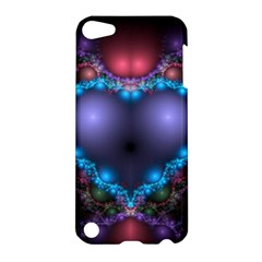 Blue Heart Apple Ipod Touch 5 Hardshell Case by Amaryn4rt