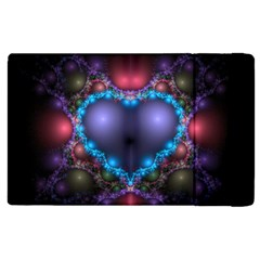 Blue Heart Apple Ipad 3/4 Flip Case by Amaryn4rt