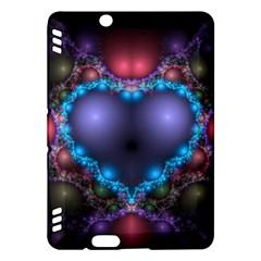 Blue Heart Kindle Fire Hdx Hardshell Case by Amaryn4rt