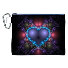 Blue Heart Canvas Cosmetic Bag (xxl) by Amaryn4rt