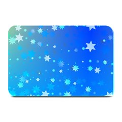 Blue Hot Pattern Blue Star Background Plate Mats by Amaryn4rt