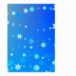 Blue Hot Pattern Blue Star Background Small Garden Flag (Two Sides) Back