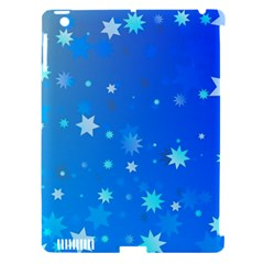 Blue Hot Pattern Blue Star Background Apple Ipad 3/4 Hardshell Case (compatible With Smart Cover) by Amaryn4rt