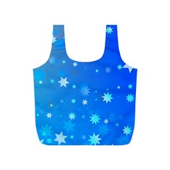 Blue Hot Pattern Blue Star Background Full Print Recycle Bags (s)  by Amaryn4rt