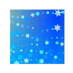 Blue Hot Pattern Blue Star Background Small Satin Scarf (square) by Amaryn4rt