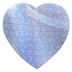 Blue Star Background Jigsaw Puzzle (heart) by Amaryn4rt