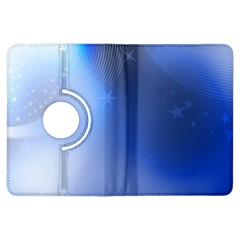 Blue Star Background Kindle Fire Hdx Flip 360 Case by Amaryn4rt