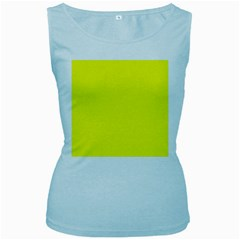 Yellow Color Women s Baby Blue Tank Top