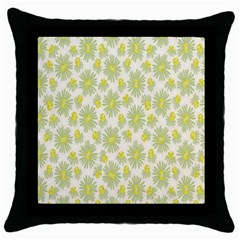 Another Supporting Tulip Flower Floral Yellow Gray Throw Pillow Case (black) by Jojostore