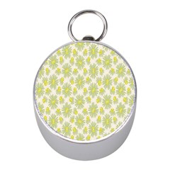 Another Supporting Tulip Flower Floral Yellow Gray Mini Silver Compasses by Jojostore